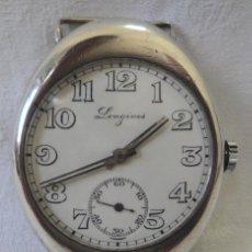 Relojes - Longines: ANTIGUO RARO RELOJ WATCH LONGINES 4 CM X 3,1 CM PULSERA CAJA PLATA 935 CAL 13.82 AÑO 1914 #3248818 . Lote 53884611