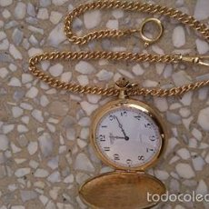 Relojes - Longines: RELOJ DE BOLSILLO DE ORO LONGINES CON CADENA DE ORO MACIZO NUEVO. Lote 56858083