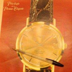 Relojes - Longines: RELOJES LONGINES, PRIVILEGIO DE LA PERSONA ELEGANTE. 5 ANUNCIOS.. Lote 151022641