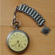Relojes - Longines: RELOJ LONGINES CON PRECIOSA LEONTINA ORIGINAL. Lote 66863734