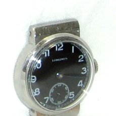 Relojes - Longines: ANTIGUO RARO RELOJ LONGINES WATCH JUNIOR STAYBRITE ESFERA NEGRA AÑOS 30. Lote 155955029