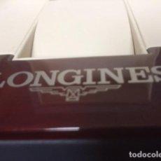 Relojes - Longines: CAJA DE RELOJ LONGINES CON TARJETA GARANTIA Y LIBRO DE MAS DE 640 HOJAS ,ADORNOS VER FOTOS. Lote 72038431