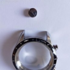 Relojes - Longines: CAJA DE RELOJ LONGINES CRONO CON CORONA ORIGINAL, CRISTAL ZAFIRO SIN TAPA TRASERA, CAJA EN ACERO. Lote 115725250