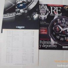Relojes - Longines: LONGINES, CATALOGO DE RELOJES LONGINES Y SUS PRECIOS, 140 PAG.+ R.F. . Lote 94055540