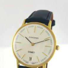 Relojes - Longines: LONGINES COMET PLAQUÈ ORO 18K CABALLERO-COMO NUEVO.. Lote 97968887