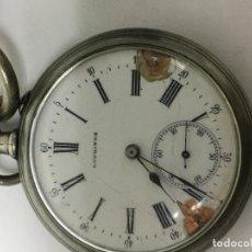 Relojes - Longines: RELOJ LONGINES DE BOLSILLO CON LEONTINA ANTIGUA SE LA ÉPOCA. Lote 98845299