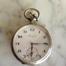 Relojes - Longines: RELOJ DE BOLSILLO LONGINES CAJA DE PLATA . Lote 102541527
