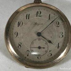 Relojes - Longines: RELOJ BOLSILLO LONGUINES PLAQUE ORO - GRAN TAMAÑO - AUTOMATICO - NO FUNCIONA. Lote 102767675