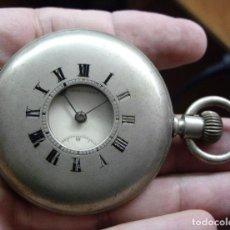 Relojes - Longines: LONGINES TIPO CAZADOR DE BOLSILLO - HACIA 1870 - FUNCIONANDO. Lote 103581203