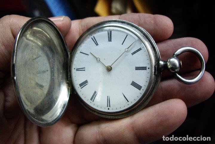 RELOJ VACHERON DE PLATA DE BOLSILLO DE LLAVES- HACIA 1860 - BISAGRAS DE ORO - FUNCIONANDO (Relojes - Relojes Actuales - Longines)