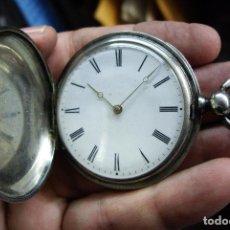 Relojes - Longines: RELOJ VACHERON DE PLATA DE BOLSILLO DE LLAVES- HACIA 1860 - BISAGRAS DE ORO - FUNCIONANDO. Lote 103582147