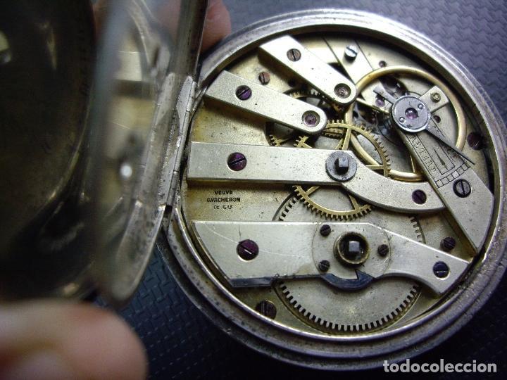 Relojes - Longines: RELOJ VACHERON de PLATA de BOLSILLO de LLAVES- HACIA 1860 - BISAGRAS DE ORO - FUNCIONANDO - Foto 4 - 103582147