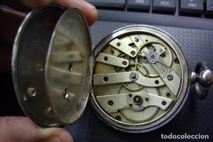 Relojes - Longines: RELOJ VACHERON de PLATA de BOLSILLO de LLAVES- HACIA 1860 - BISAGRAS DE ORO - FUNCIONANDO - Foto 5 - 103582147