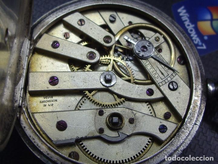 Relojes - Longines: RELOJ VACHERON de PLATA de BOLSILLO de LLAVES- HACIA 1860 - BISAGRAS DE ORO - FUNCIONANDO - Foto 6 - 103582147