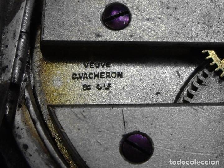 Relojes - Longines: RELOJ VACHERON de PLATA de BOLSILLO de LLAVES- HACIA 1860 - BISAGRAS DE ORO - FUNCIONANDO - Foto 7 - 103582147