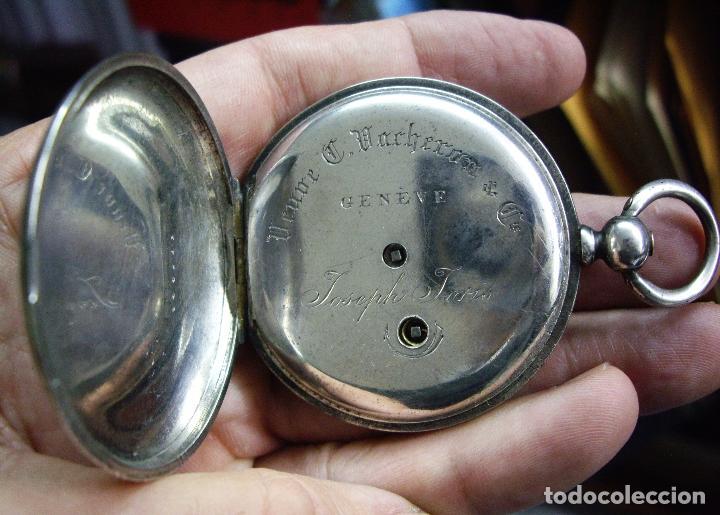 Relojes - Longines: RELOJ VACHERON de PLATA de BOLSILLO de LLAVES- HACIA 1860 - BISAGRAS DE ORO - FUNCIONANDO - Foto 10 - 103582147