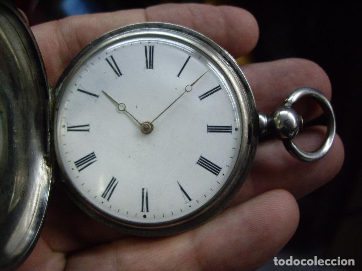 Relojes - Longines: RELOJ VACHERON de PLATA de BOLSILLO de LLAVES- HACIA 1860 - BISAGRAS DE ORO - FUNCIONANDO - Foto 11 - 103582147