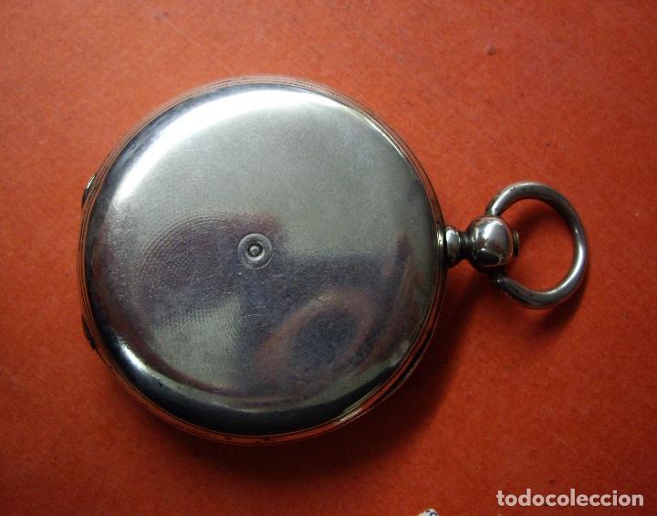 Relojes - Longines: RELOJ VACHERON de PLATA de BOLSILLO de LLAVES- HACIA 1860 - BISAGRAS DE ORO - FUNCIONANDO - Foto 12 - 103582147