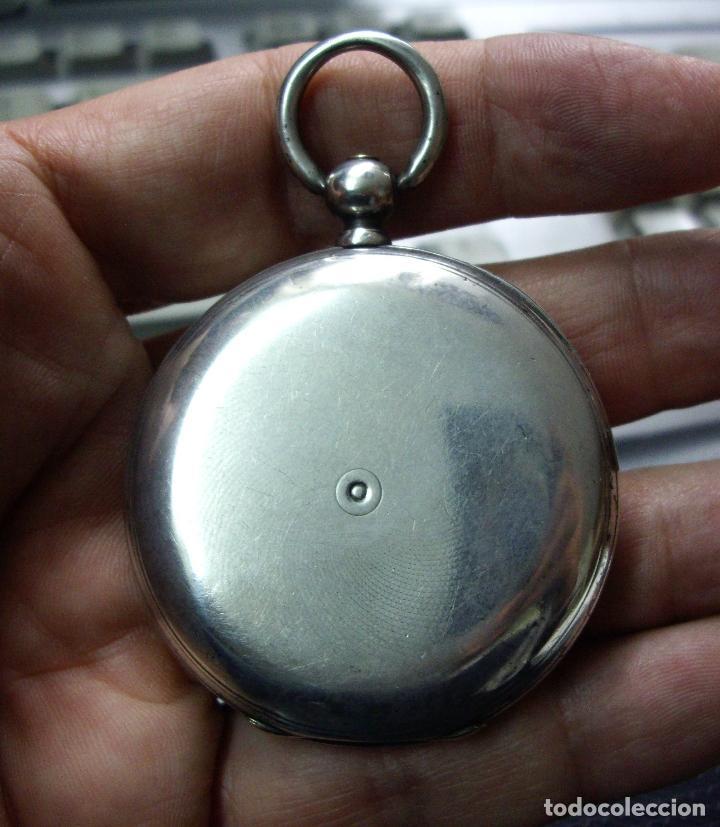 Relojes - Longines: RELOJ VACHERON de PLATA de BOLSILLO de LLAVES- HACIA 1860 - BISAGRAS DE ORO - FUNCIONANDO - Foto 13 - 103582147