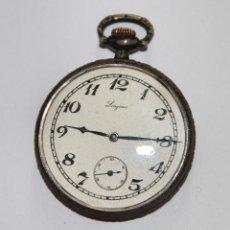 Relojes - Longines: RELOJ LONGINES. PLATA Y PORCELANA. NECESITA REPARACIÓN. SUIZA. AÑOS 30. Lote 104594391