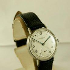 Relojes - Longines: LONGINES MECANICO CUERDA MANUAL AÑOS 30/40 ACERO FUNCIONANDO. Lote 120556347