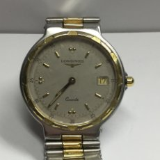 Relojes - Longines: RELOJ LONGINES CONQUEST EN ACERO COMPLETO Y DETALLES CHAPADOS ORO. Lote 121275944