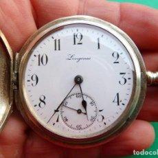 Relojes - Longines: RELOJ DE BOLSILLO LONGINES DE PLATA. Lote 137917678