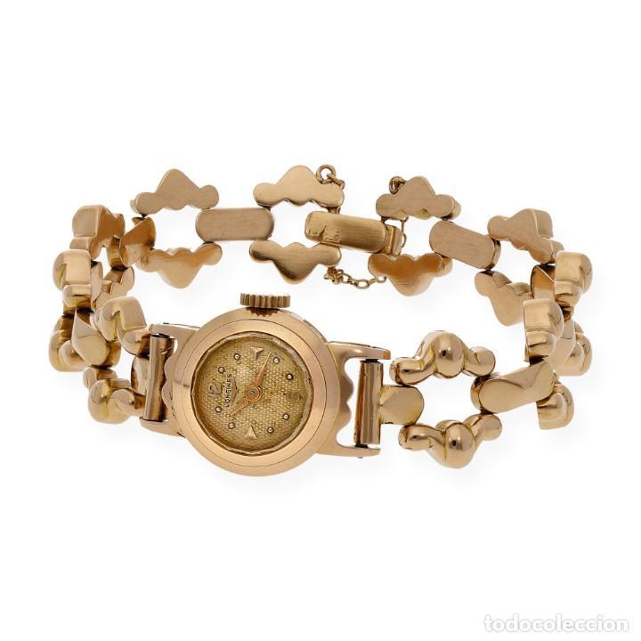 Relojes - Longines: LONGINES ORO ROSA 18K RELOJ DE SEÑORA CUERDA MANUAL - Foto 4 - 139460810