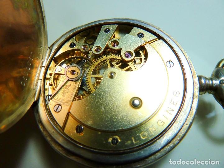 Relojes - Longines: Reloj de bolsillo Longines de plata - Foto 8 - 137917678