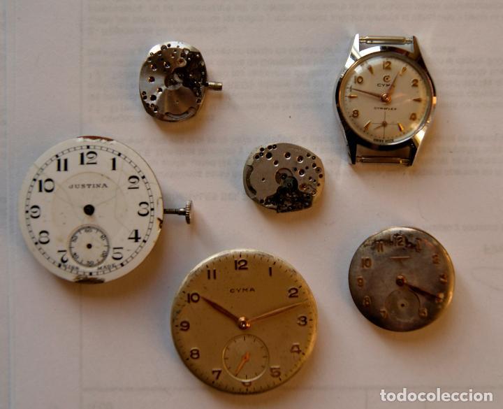 LOTE DE MAQUINAS LONGINES CYMA Y JUSTINA C8 (Relojes - Relojes Actuales - Longines)