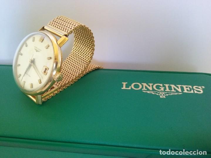 Relojes - Longines: RELOJ LONGINES EN ORO MACIZO DE 18 KILATES/750mm AUTOMATICO Y ANTIGUO - Foto 4 - 147584658