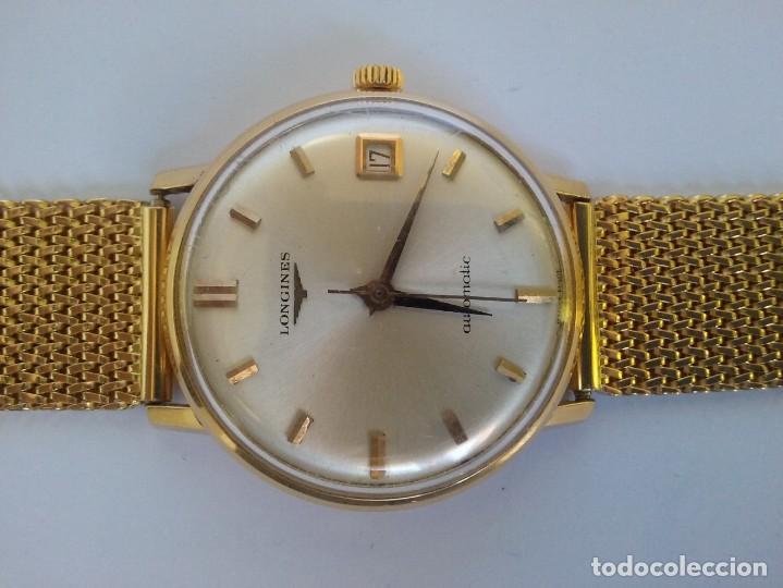 Relojes - Longines: RELOJ LONGINES EN ORO MACIZO DE 18 KILATES/750mm AUTOMATICO Y ANTIGUO - Foto 5 - 147584658