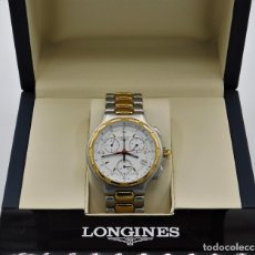 Relojes - Longines: LONGINES-PRECIOSO Y ELEGANTE RELOJ LONGINES CONQUEST LUJO ORO DE CABALLERO-18K/750. Lote 144041294