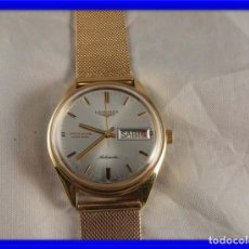 Relojes - Longines: FANTASTICO RELOJ LONGINES ADMIRAL AUTOMATICO DE ORO 18 KT DIA Y FECHA PERFECTO. Lote 151537906