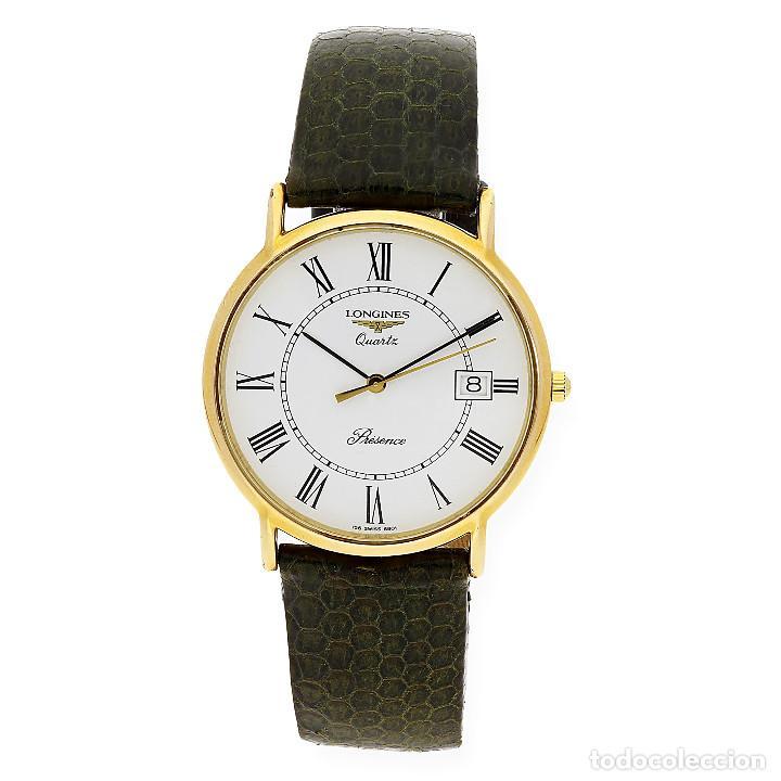 LONGINES PRESENCE DIAL RELOJ UNISEX ORO AMARILLO 18K Y ACERO (Relojes - Relojes Actuales - Longines)