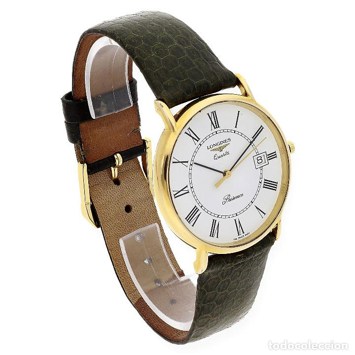 Relojes - Longines: Longines Presence Dial Reloj Unisex Oro Amarillo 18k y Acero - Foto 3 - 160943674