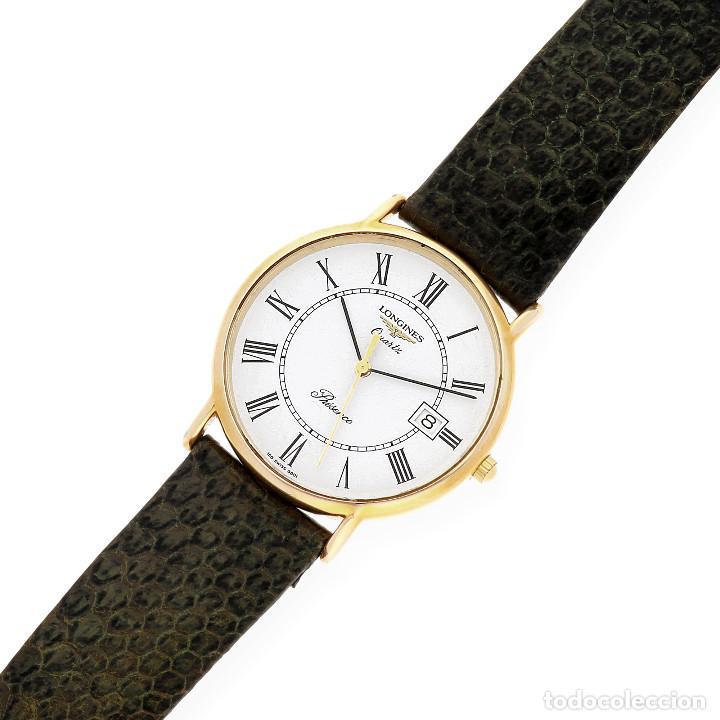 Relojes - Longines: Longines Presence Dial Reloj Unisex Oro Amarillo 18k y Acero - Foto 5 - 160943674