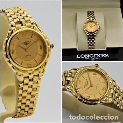 LONGINES-PRECIOSO RELOJ-JOYA DE ORO 18K Y PULSERA DE ORO 18K-DE DAMA-CUARZO- (Relojes - Relojes Actuales - Longines)