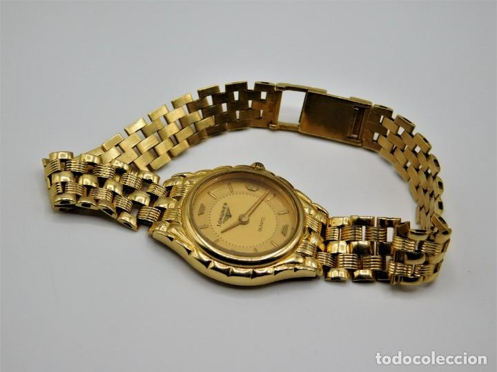 Relojes - Longines: LONGINES-PRECIOSO RELOJ-JOYA DE ORO 18K Y PULSERA DE ORO 18K-DE DAMA-CUARZO- - Foto 3 - 165780086