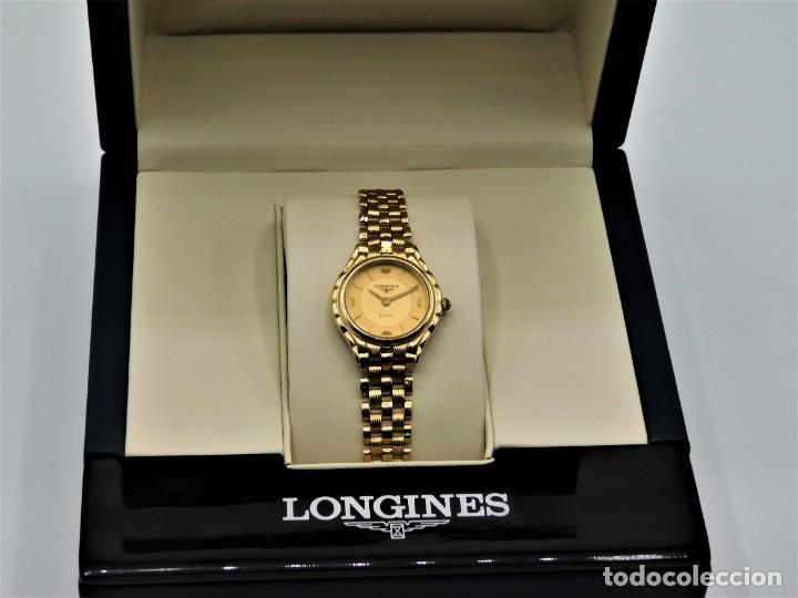 Relojes - Longines: LONGINES-PRECIOSO RELOJ-JOYA DE ORO 18K Y PULSERA DE ORO 18K-DE DAMA-CUARZO- - Foto 7 - 165780086