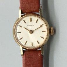 Relojes - Longines: BONITO RELOJ DE PULSERA DE MUJER MARCA LONGINES DE 1966 CHAPADO EN ORO, REVISADO Y FUNCIONANDO. Lote 167165380
