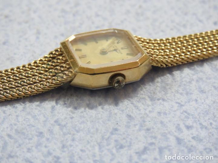 Relojes - Longines: BONITO RELOJ DE PULSERA DE LA MARCA LONGINES PARA MUJER, CHAPADO EN ORO, FUNCIONA - Foto 5 - 167721948