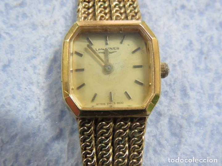 Relojes - Longines: BONITO RELOJ DE PULSERA DE LA MARCA LONGINES PARA MUJER, CHAPADO EN ORO, FUNCIONA - Foto 10 - 167721948