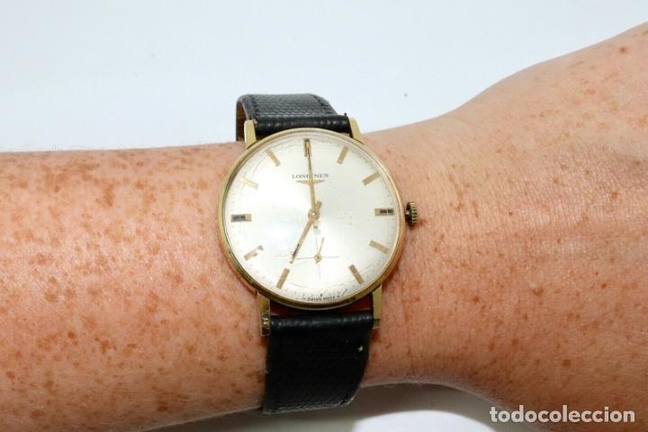 Relojes - Longines: PRECIOSO RELOJ DE HOMBRE DE LA MARCA LONGINES DE ORO DE 18 KT CON MARCAJES, DE LOS AÑOS 60, FUNCIONA - Foto 2 - 168723412