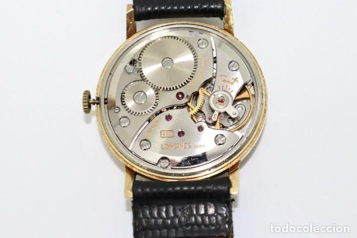 Relojes - Longines: PRECIOSO RELOJ DE HOMBRE DE LA MARCA LONGINES DE ORO DE 18 KT CON MARCAJES, DE LOS AÑOS 60, FUNCIONA - Foto 4 - 168723412
