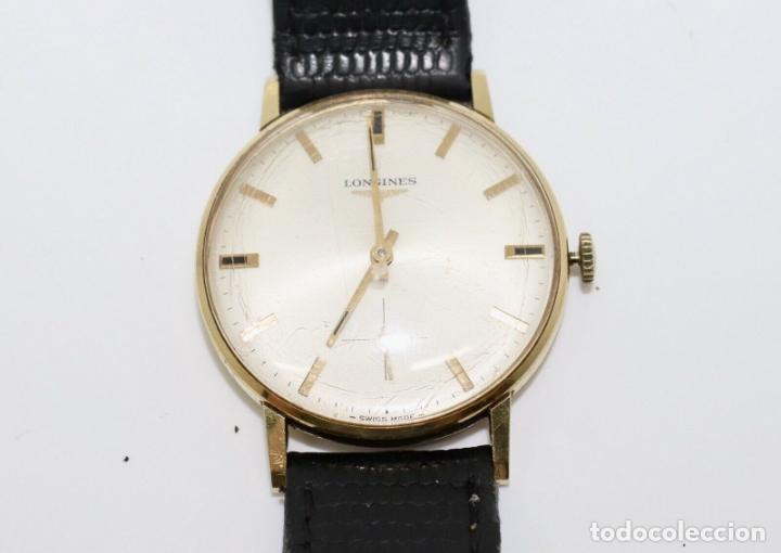 PRECIOSO RELOJ DE HOMBRE DE LA MARCA LONGINES DE ORO DE 18 KT CON MARCAJES, DE LOS AÑOS 60, FUNCIONA (Relojes - Relojes Actuales - Longines)