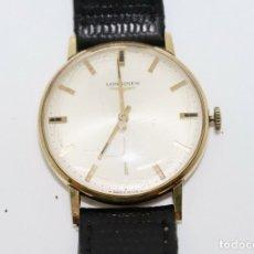 Relojes - Longines: PRECIOSO RELOJ DE HOMBRE DE LA MARCA LONGINES DE ORO DE 18 KT CON MARCAJES, DE LOS AÑOS 60, FUNCIONA. Lote 168723412
