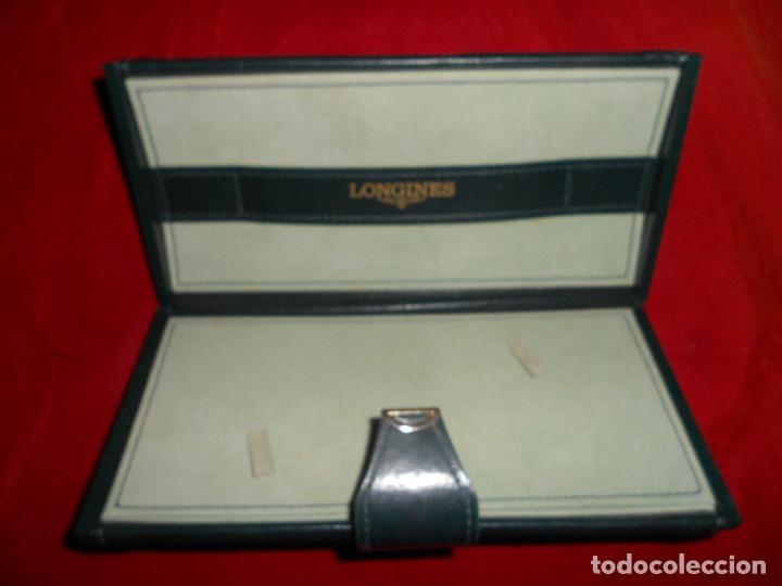 Relojes - Longines: CAJA ESTUCHE ORIGINAL de lujo RELOJ LONGINES AÑOS 80 EN PERFECTO ESTADO TODO PIEL COLOR VERDE - Foto 2 - 172218959