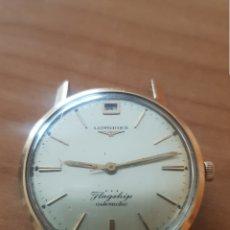 Relojes - Longines: RELOJ LONGINES FLAGSHIP AUTOMÁTICO BAÑO DE ORO FUNCIONA PERO SE PARA PARA REPARAR...ALTA COLECCIÓN. Lote 180125945