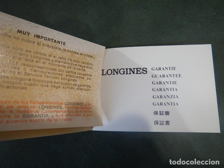 Relojes - Longines: Librito garantía Longines sin rellenar - Foto 3 - 234482925